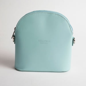 Bologna Light Blue Crossbody Bag Italian Leather Solo Perché