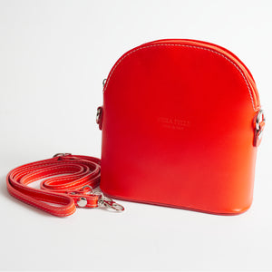 Bologna Orange Crossbody Bag Italian Leather Solo Perché
