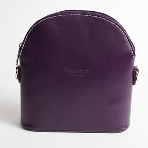 Bologna Purple Crossbody Bag Italian Leather Solo Perché