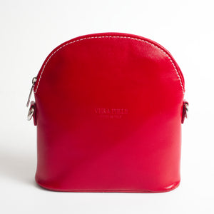 Bologna Red Crossbody Bag Italian Leather Solo Perché