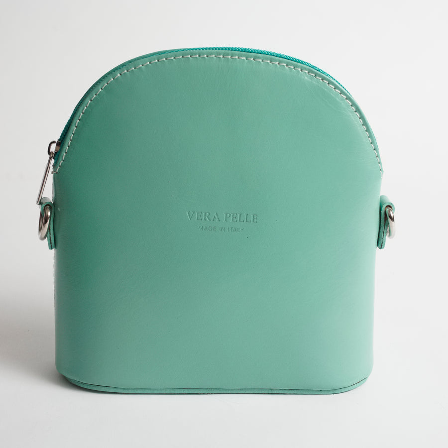 Bologna Teal Crossbody Bag Italian Leather Solo Perché