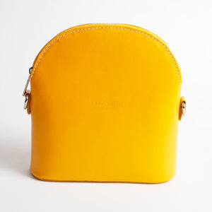 Bologna Yellow Crossbody Bag Italian Leather Solo Perché
