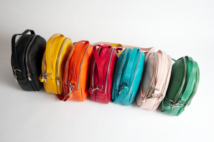 Lucca Colors Italian Leather Cross Body Bag Solo Perché Bags