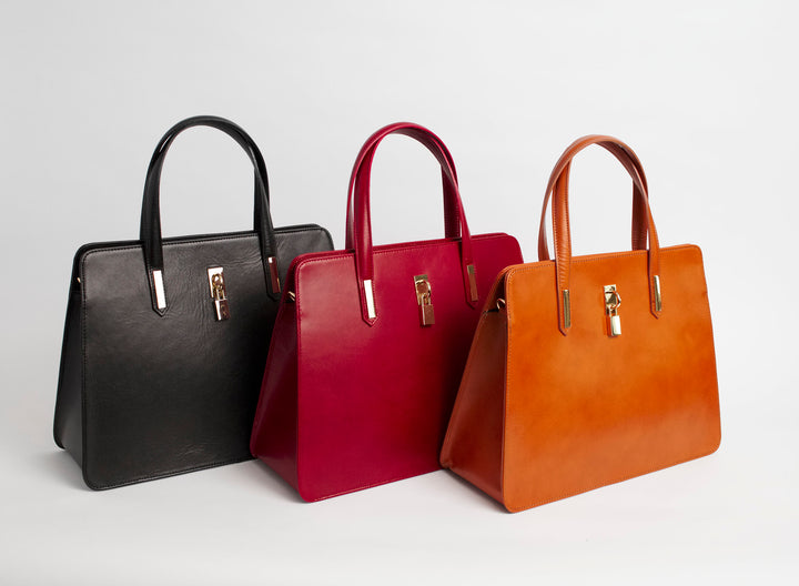 Napoli All Colors Italian Leather Handbag Solo Perché Bags