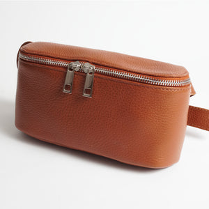 Roma Brown Italian Leather Belt Bag Solo Perché Bags