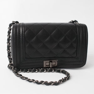 Salerno Black Italian Leather Cross Body Bag Solo Perché Bags