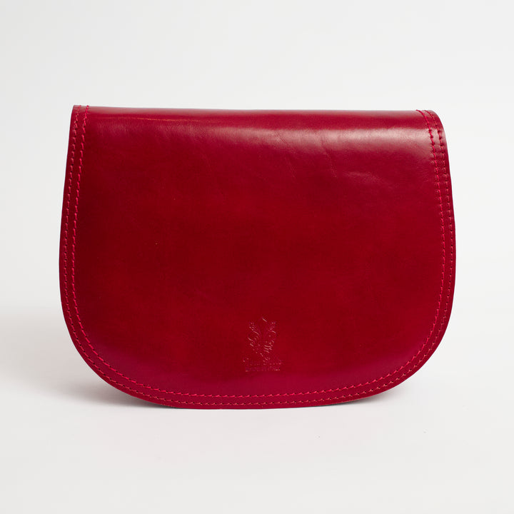Saturnia Red Italian Leather Cross Body Bag Solo Perché Bags