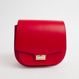 Turino Red Italian Leather Cross Body Bag Solo Perché Bags