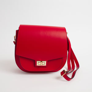Turino Red Front Italian Leather Cross Body Bag Solo Perché Bags