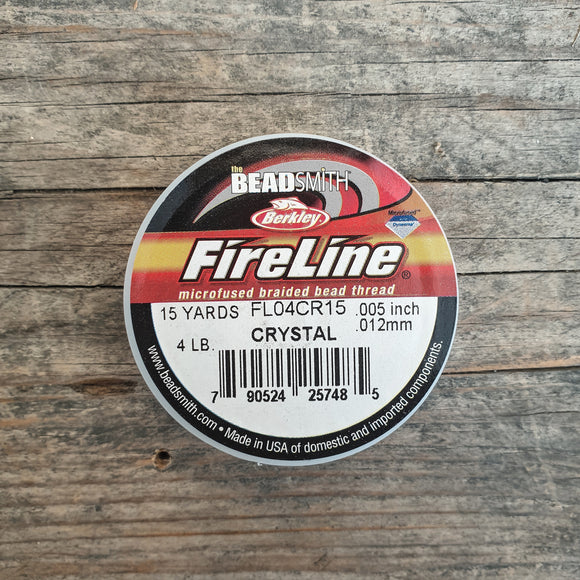Fireline 4LB (0,12mm) 15 yards kleur Crystal