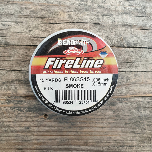 Fireline 6LB (0,15mm) 15 yards kleur Smoke