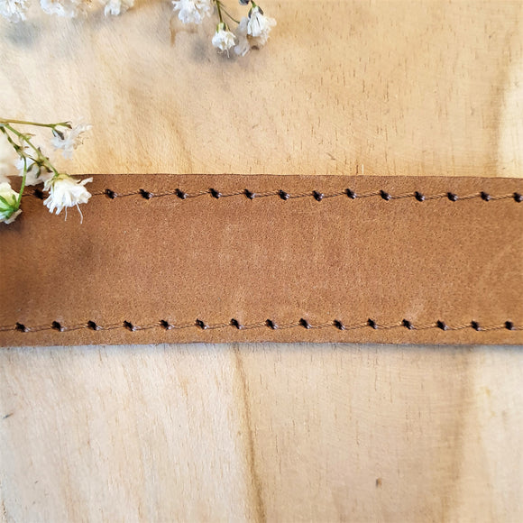 Plat leer 20 mm Naturel 20 cm