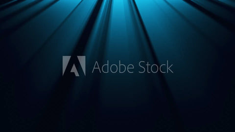 Cool Blue Light Rays Background Loop