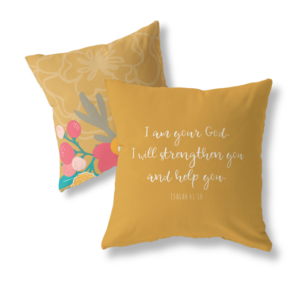 Psalm 16:8 pillow cover
