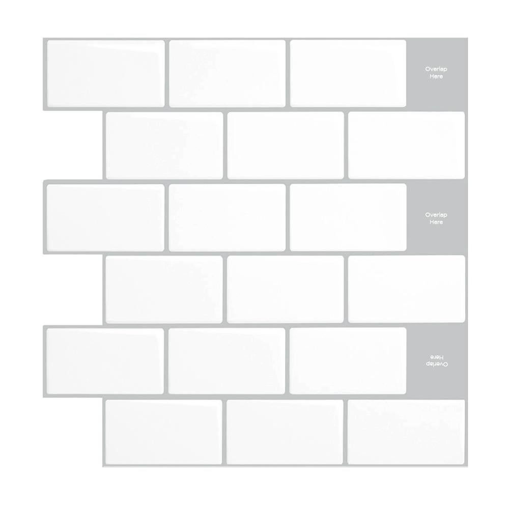 Subway Mono White – Peel & Stick Tiles