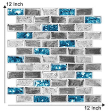 "Load image into Gallery viewer, Marbled 3D 12"" x 12"" - Peel & Stick Tiles"