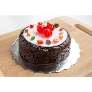 Fruit Cake with Fruits Decor