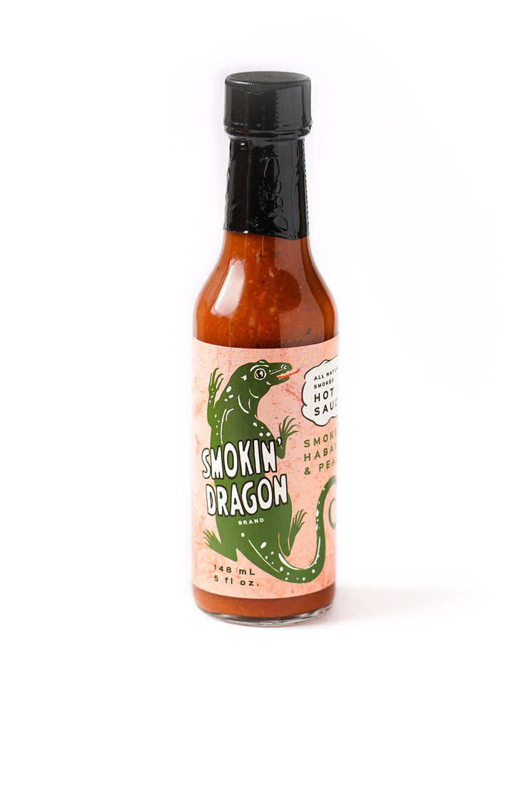 Smoke on the Water BBQ Hot sauce - Habanero & Peach Ghost Pepper Sauce
