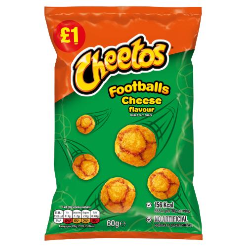 Cheetos Cheese Footballs, 60gm
