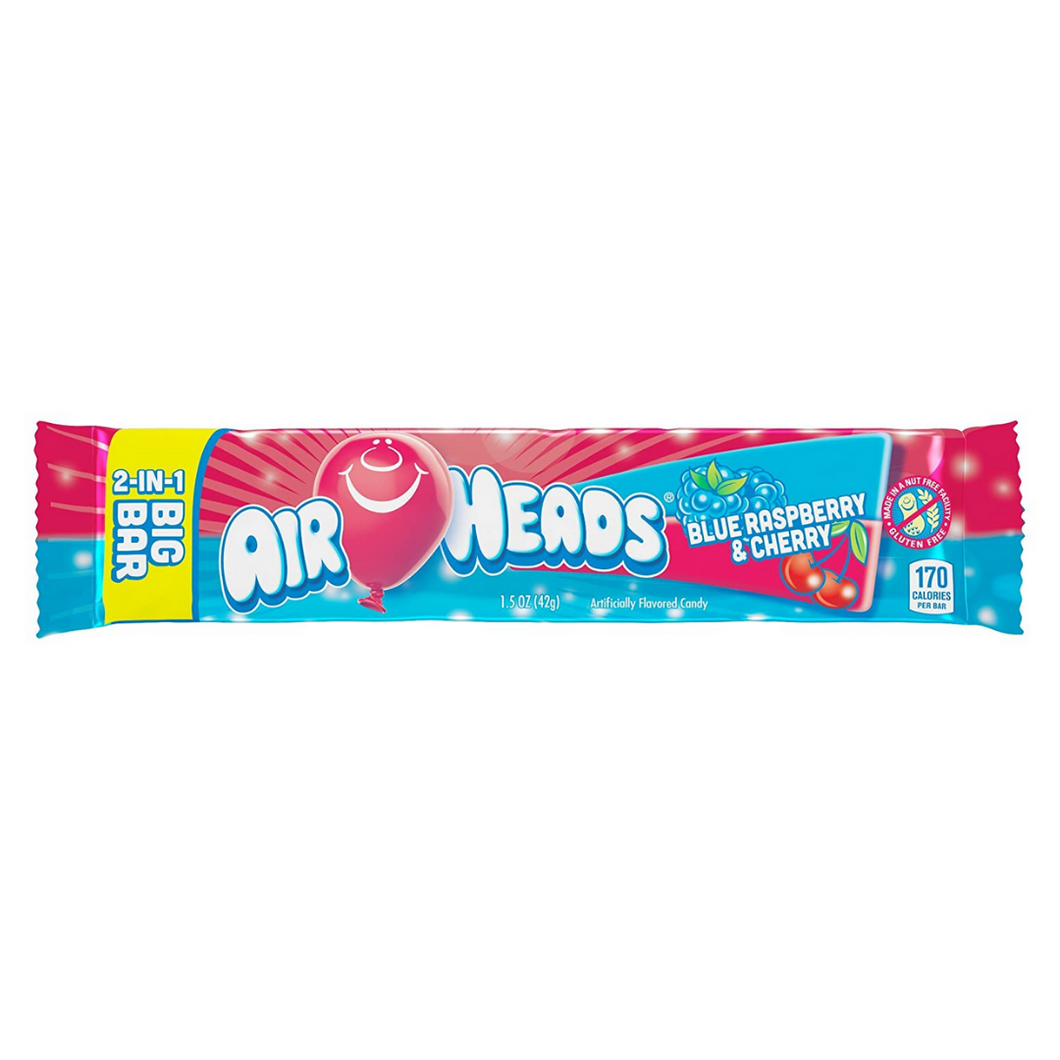 Airheads Big Bar (Blue Raspberry / Cherry)