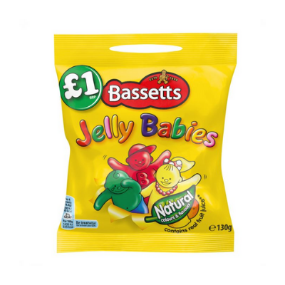 Bassetts Jelly Babies Pouch, 130g