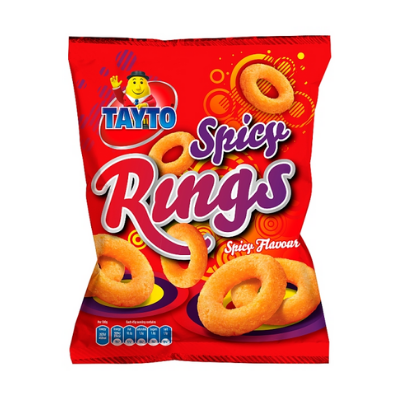Tayto Spicy Rings, 45g