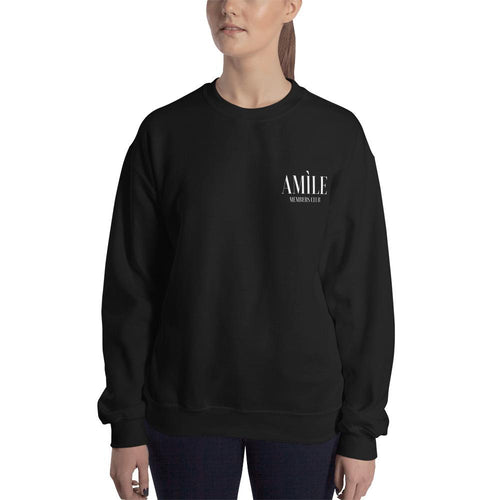 Members Club White Logo Sweatshirt - Amìle Bespoke