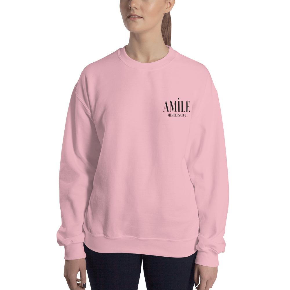 Members Club Black Logo Sweatshirt - Amìle Bespoke