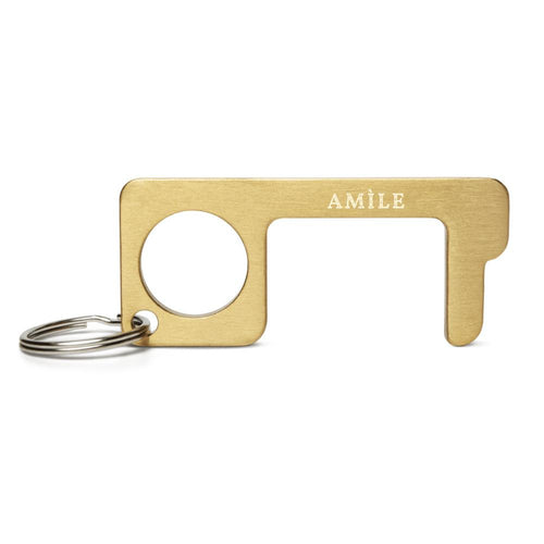 Logo Engraved Brass Touch Tool - Amìle Bespoke
