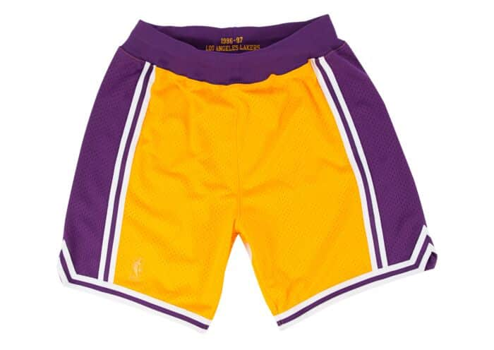 Los Angeles Lakers Authentic Shorts from 1996-97 Kobe Rookie Season