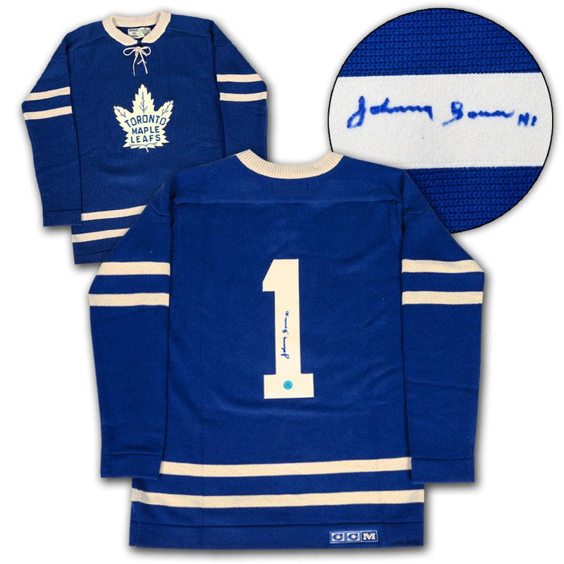 Johnny Bower Toronto Maple Leafs Autographed CCM Heritage Hockey Sweater