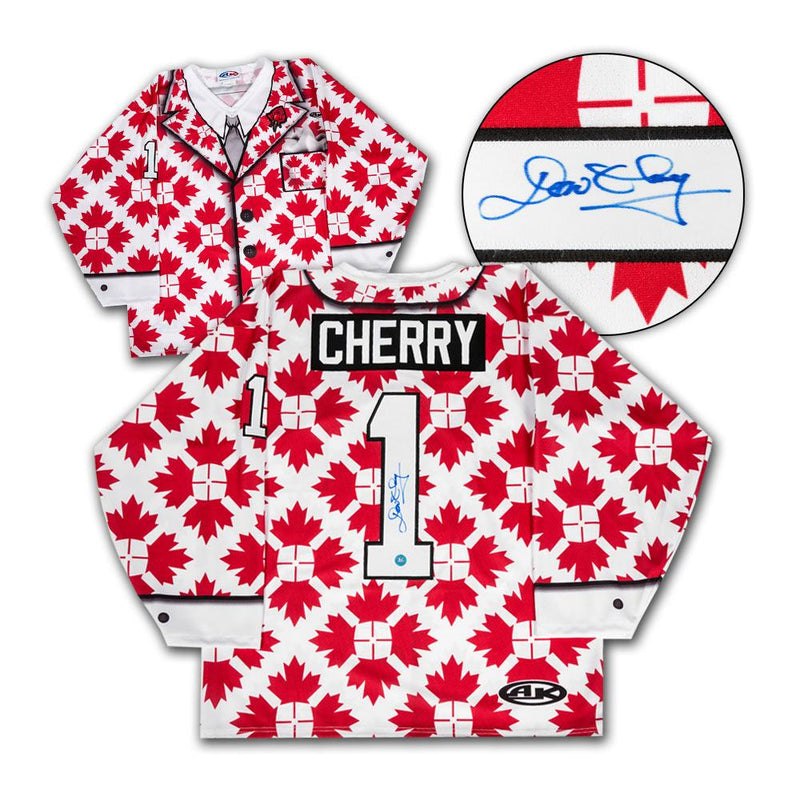 Don Cherry Autographed Canada Maple Leaf Custom Suit Jacket Hockey Jersey
