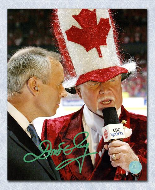 Don Cherry Hockey Night in Canada Autographed Canada Hat 8x10 Photo