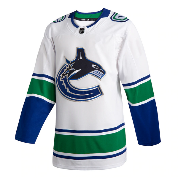 Vancouver Canucks White Away Jersey Customized