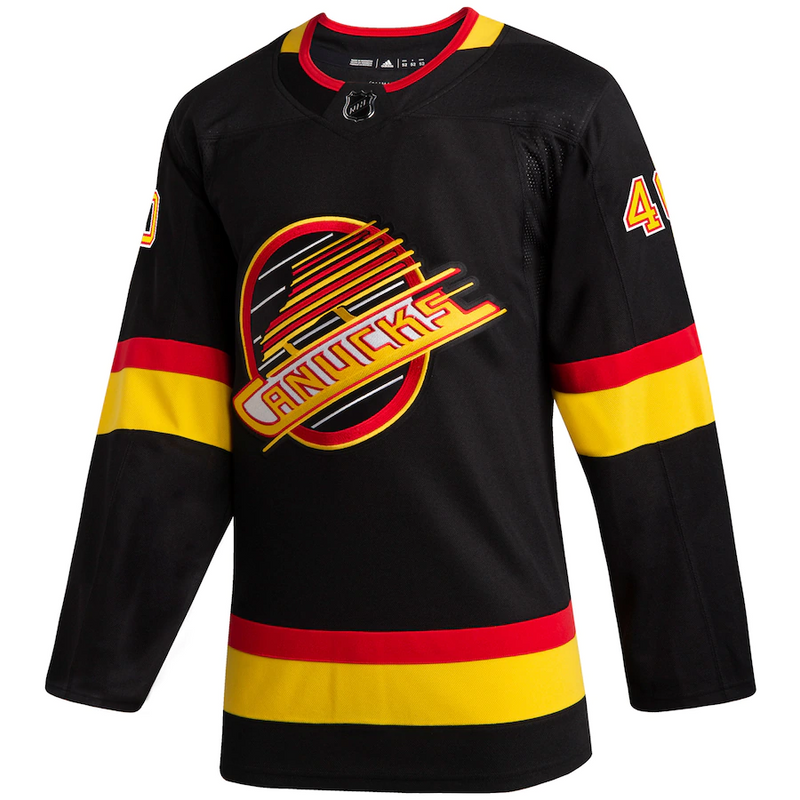 Vancouver Canucks Black Skate Name & Number Jersey