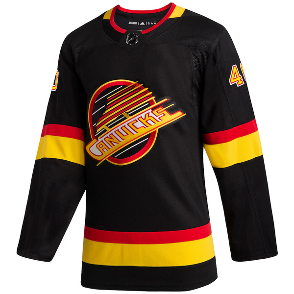 Vancouver Canucks Youth Blank Black Skate Jersey