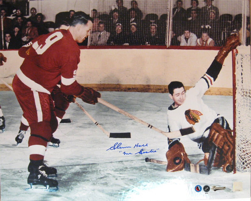 Chicago Blackhawks Glenn Hall Signed 16x20 Photo Framed