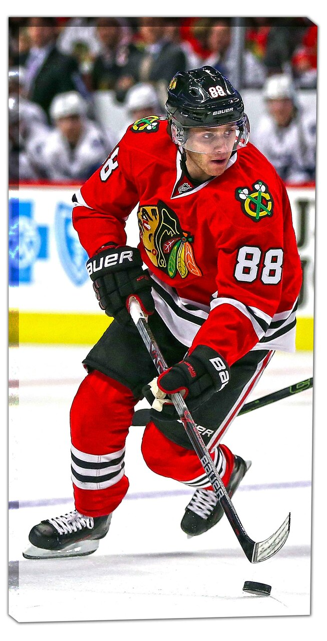 Chicago Blackhawks Patrick Kane 14x28 Canvas