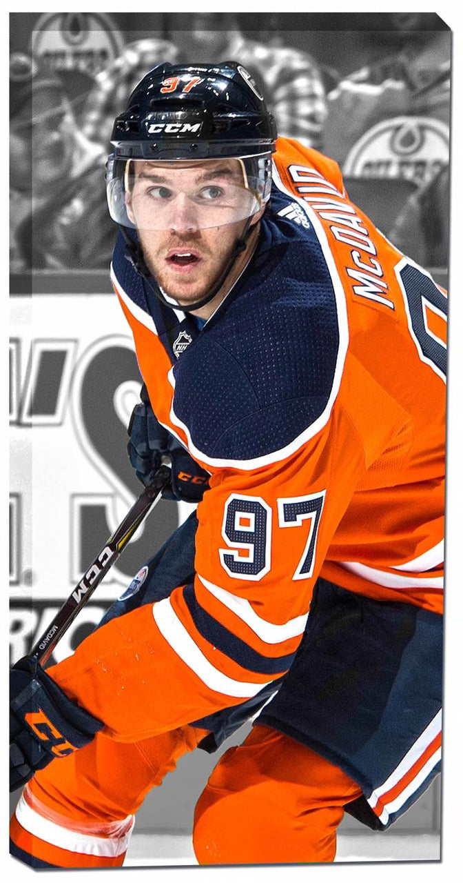 Edmonton Oilers Connor McDavid 14x28 Canvas