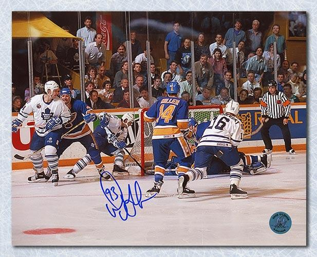 Doug Gilmour Toronto Maple Leafs Signed Playoff Wrap Around Goal 8x10 Photo Framed