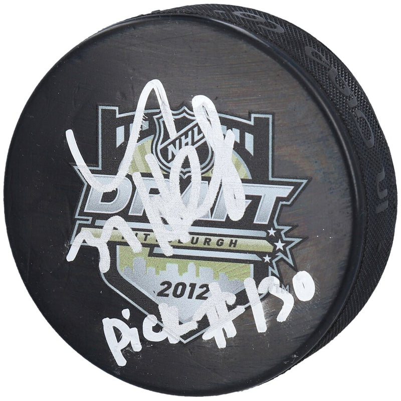 Winnipeg Jets Connor Hellebuyck Signed Draft Puck