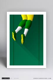 Green Bay Packers Minimalist Stadium Print