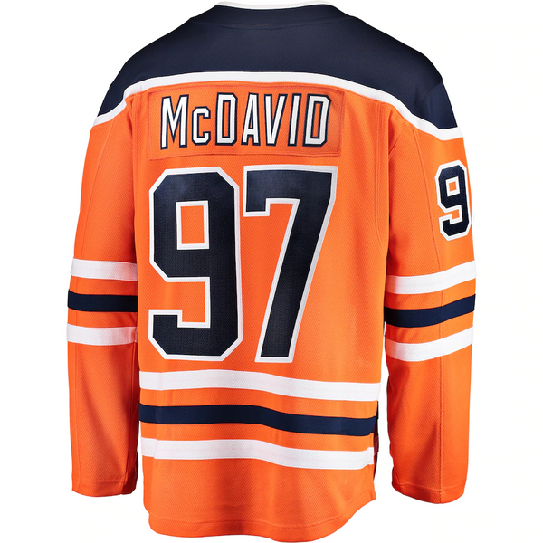 Connor McDavid 97 - Edmonton Oilers Orange Home Jersey