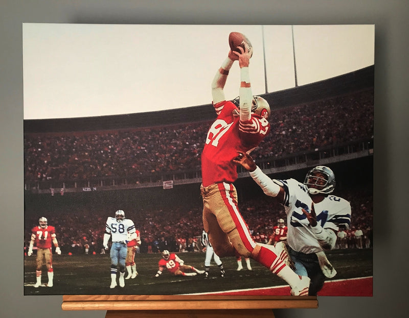 San Francisco 49ers Montana to Clark Canvas