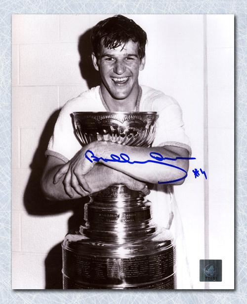 Bobby Orr Boston Bruins Autographed Stanley Cup Champion 8x10 Photo Framed
