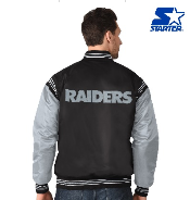 Oakland Raiders Satin Starter Jacket