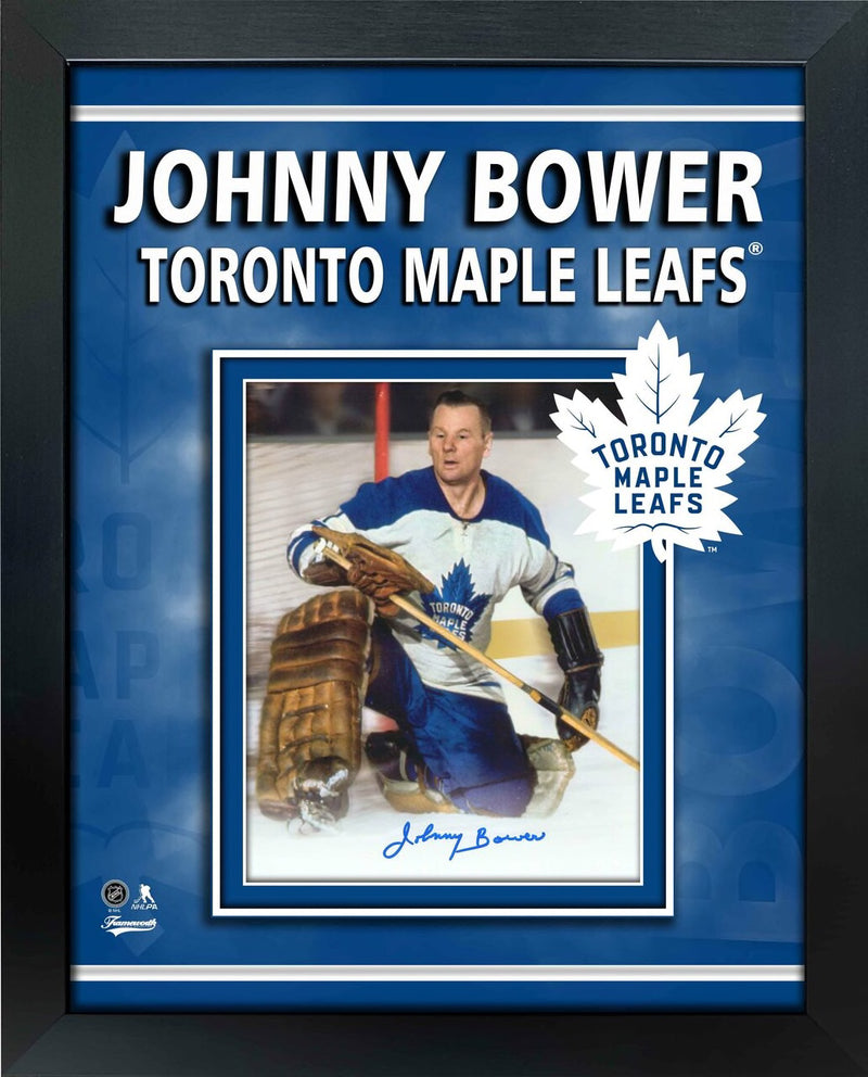 Toronto Maple Leafs Johnny Bower Signed 8x10 Framed Photo