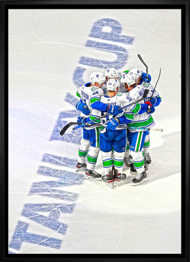 Vancouver Canucks Celebration 20x29 Framed Canvas
