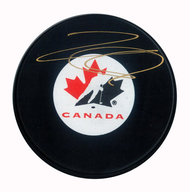Team Canada Nathan MacKinnon Signed Puck