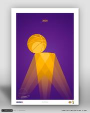 Los Angeles Lakers Minimalist Championship Print